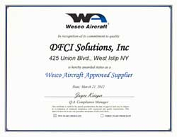 Wesco Aircraft Approval Certificate